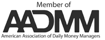 Member of American Association of Daily Money Managers (AADMM) logo